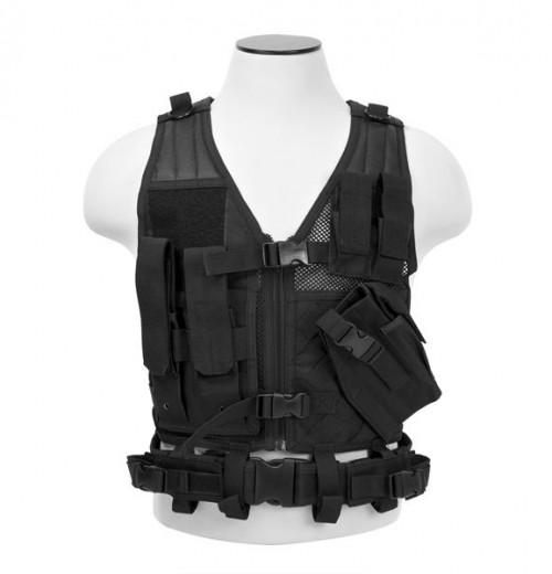 Vism By Ncstar Tactical Vest/Black Xs-s