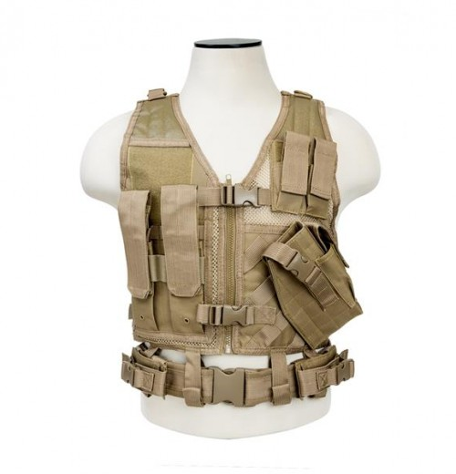 Vism By Ncstar Tactical Vest/Tan Xs-s