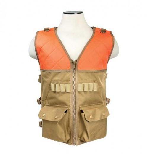 Vism By Ncstar Hunting Vest/Blaze Orange And Tan 1