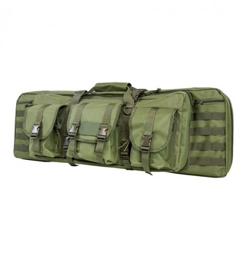 Vism By Ncstar Double Carbine Case/Green/36 In
