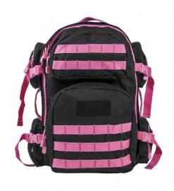 Vism By Ncstar Tactical Back Pack/ Black W/Pink Trim