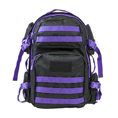 Vism By Ncstar Tactical Back Pack/ Black W/Purple Trim