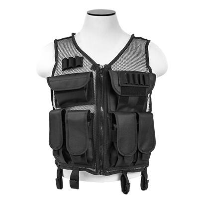 Vism By Ncstar Lightweight Mesh Tactical Vest/Black M-xl