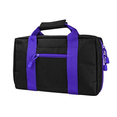 Vism By Ncstar Discreet Pistol Case/Black W/Purple Trim