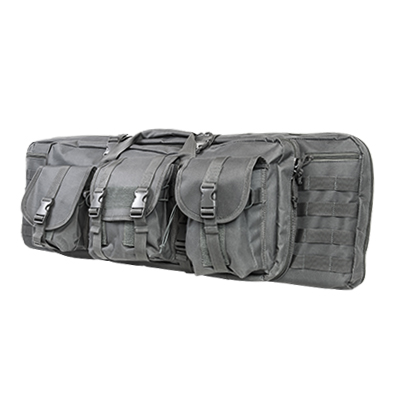 Vism By Ncstar Double Carbine Case/Urban Gray/42 In