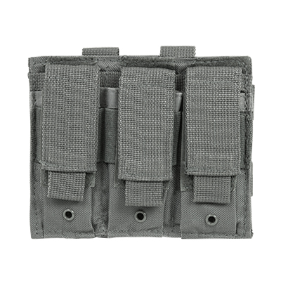 Vism By Ncstar Triple Pistol Mag Pouch/Urban Gray