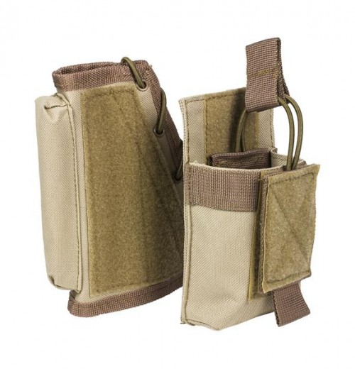 Vism By Ncstar Stock Riser With Mag Pouch/Tan