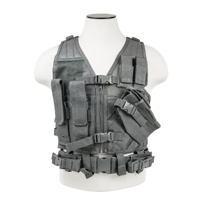 Vism By Ncstar Tactical Vest/Urban Gray Xs-s
