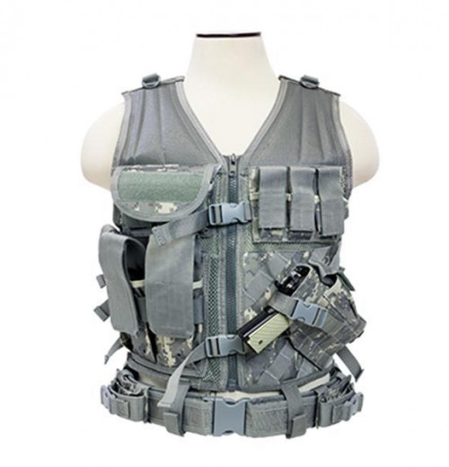 NcStar Tactical Vest Digital Camo ACU Large