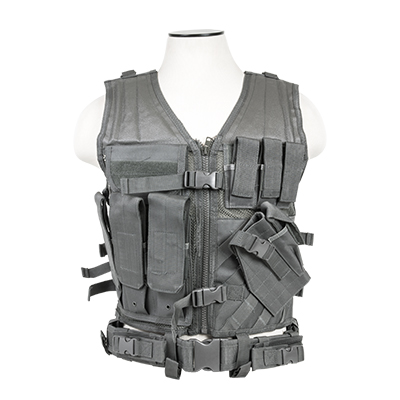 Vism By Ncstar Tactical Vest/Urban Gray  Xl-xxl+