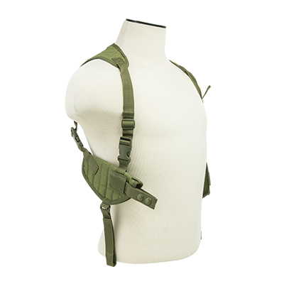 Vism By Ncstar Ambidextrous Horizontal Shoulder Holster/Double Magazine Holder/Green 1
